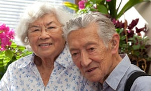 Connie Hoe and husband Leslie at home in Wanstead