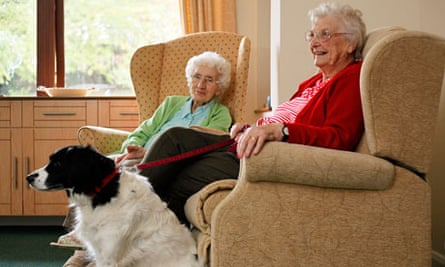 Mable Madge (left) and Dilys Waldron at the Willows, Leicestershire.