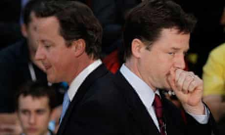 David Cameron (left), the prime minister, and Nick Clegg, deputy prime minister