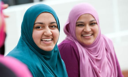 young women at muslim peace camp