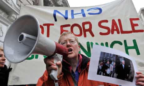 Protests Against NHS Social Care Bill