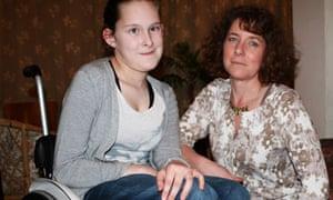 Jenny Wilson with her mother Lynda Wakefield