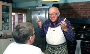 Foster carer Jim Bond teaches Billy (not his real name) to cook.