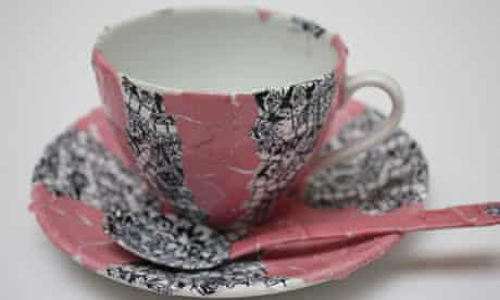 Looked-after children have designed teacups - Cultural Olympiad project at the Foundling Museum