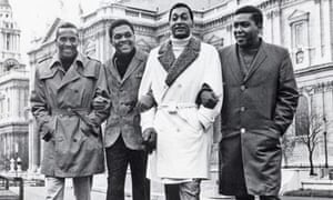 Four Tops ouside St Paul's cathedral, London, in 1966