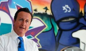 David Cameron makes a speech, following UK rioting