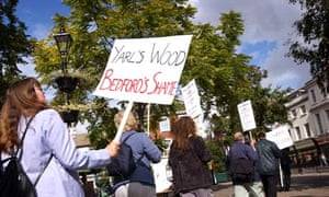 Protest against Yarl's Wood immigration removal centre