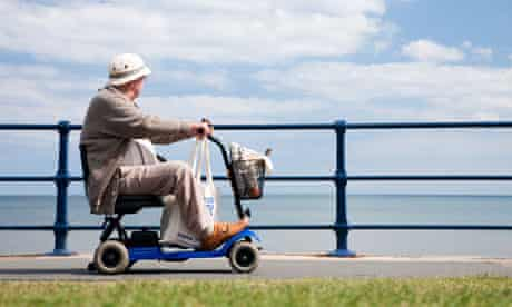 Disabled man drives along East Yorkshire seafront