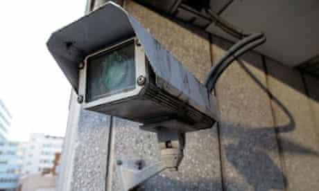 CCTV camera in an urban location