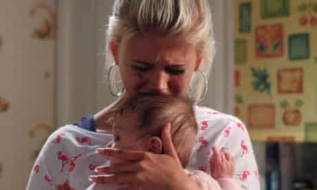 Teenager mother Lola and baby Lexi in EastEnders