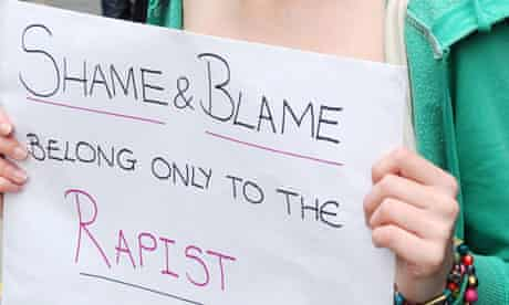 Anti-rape demonstration placard