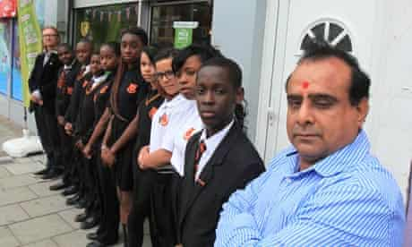 Jayendra Patel now welcomes 40 or 50 young people into his shop at one time