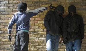 Gang members pictured in London
