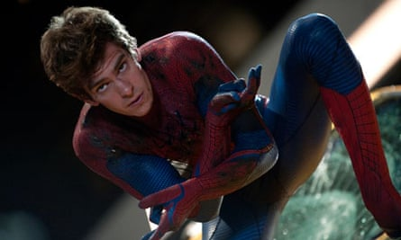 Superhero: Andrew Garfield stars as Peter Parker, AKA Spider-Man, in The Amazing Spider-Man.