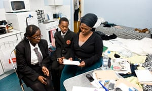 Fiona Gichaga with her children, Ashley and Leon
