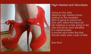 Sue Kent's poscard, Highheeled and Gloveless. tackles people's preconceptions about disability,