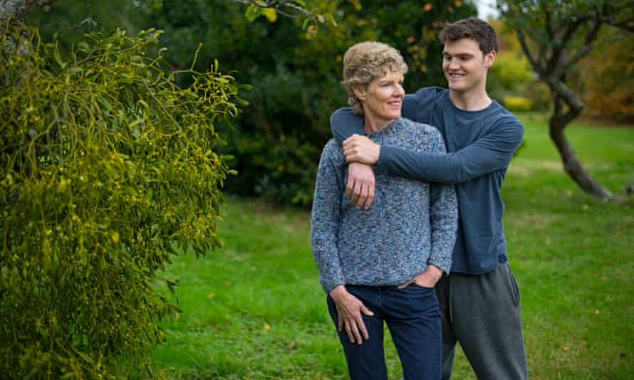 GP Pippa Hayes with one of her sons, Rory. She believes doctors should encourage smaller families
