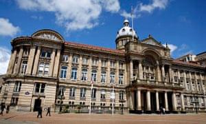 Birmingham city council in Victoria Square.