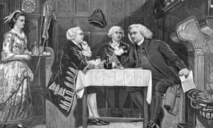 Oliver Goldsmith, James Boswell and Samuel Johnson