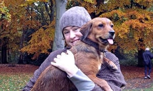 Clare Allan with her dog Meg - a 'top-quality' companion.
