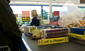 Lidl supermarket checkout