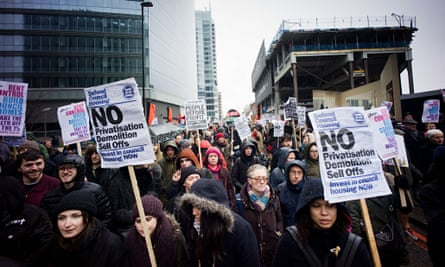 March for Homes demonstration in London, Britain - 31 Jan 2015
