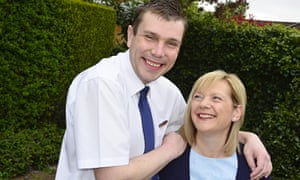 Richard Ward with his mother, Jane. Richard has learning disabilities and was able to find work
