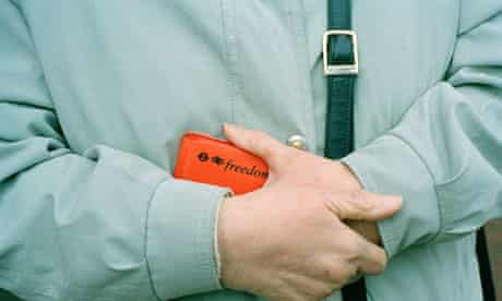 Passenger with bus pass