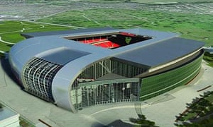 Artist impression of Liverpool's new stadium