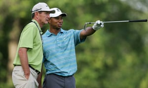 Tiger Woods with his swing coach Hank Haney