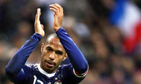 Thierry Henry celebrates after helping France beat Ireland in the World Cup play-offs
