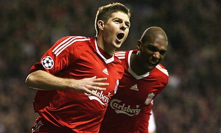 Steven Gerrard and Ryan Babel