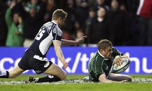 Jamie Heaslip scores
