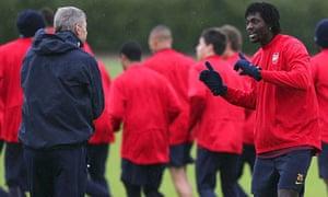 Arsène Wenger, Emmanuel Adebayor