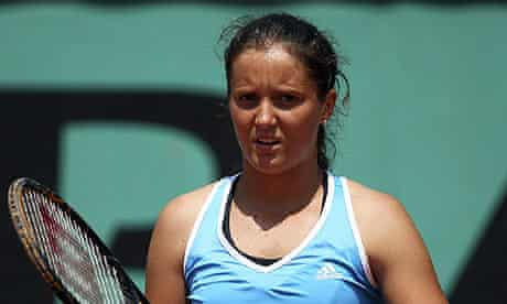 Laura Robson has lost in the second round of the French Open