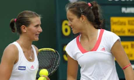 Laura Robson and Georgie Stoop