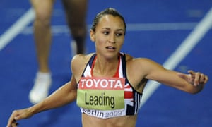 Great Britain's Jessica Ennis after recording a season's best in the 200m