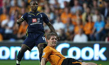 Michael Turner can only look on as Jermain Defoe opened the scoring for Tottenham against Hull