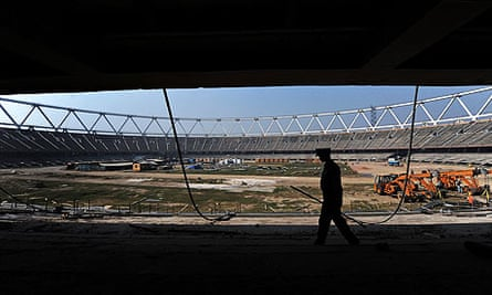 The Jawahar Lal Nehru Stadium in New Delhi, ahead of the 2010 Commonwealth Games