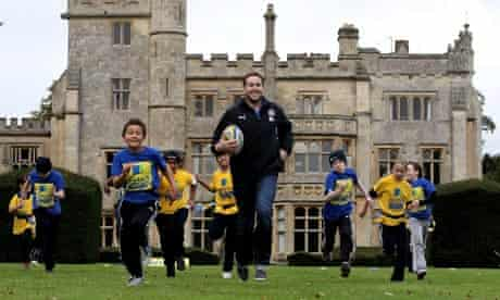 Butch James at the launch of the Aviva Premiership Rugby Schools Programme