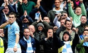 Adam Johnson celebrates scoring for Manchester City against Newcastle