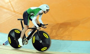 Wendy Houvenaghel won a silver medal in the women's individual pursuit at the Commonwealth Games