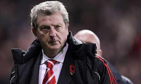 Roy Hodgson looks on during Liverpool's 2-0 defeat at Stoke on Saturday