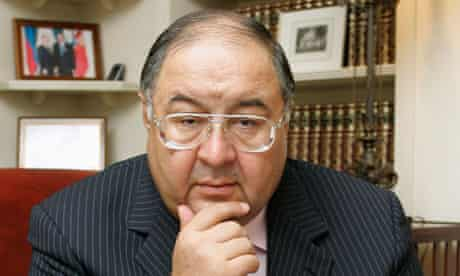 Russian billionaire Alisher Usmanov  Arsenal