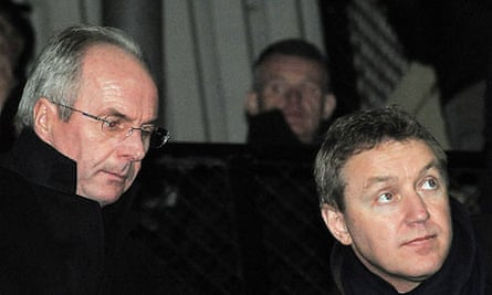 Peter Trembing with Notts County's former director of football Sven-Goran Eriksson