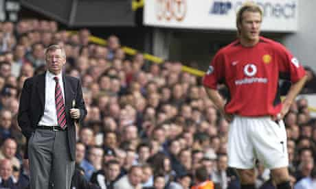 Sir Alex Ferguson and David Beckham during their time together at Manchester United