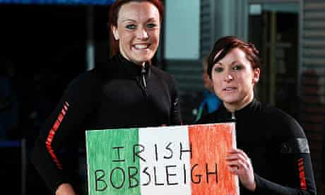 Claire Bergin, right, and Aoife Hoey at the Winter Olympics