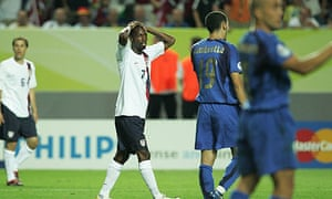 DaMarcus Beasley in action for the US at 2006 World Cup