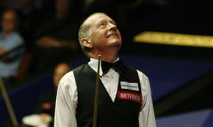 Steve Davis celebrates beating Mark King at the Crucible