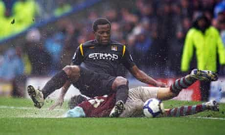Nedum Onuoha in action during Manchester City's 6-1 win against Burnley last Saturday